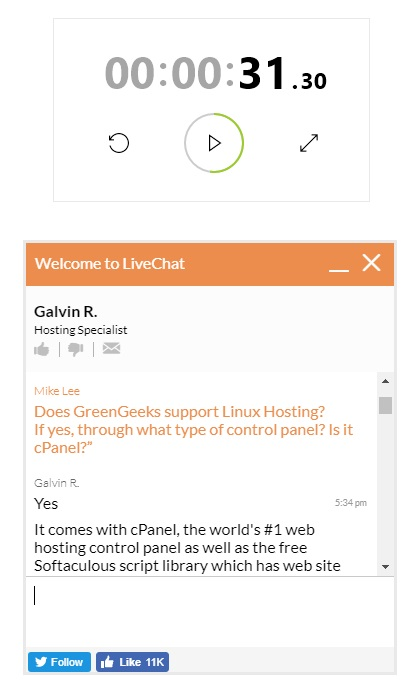 GreenGeeks Live Chat Support