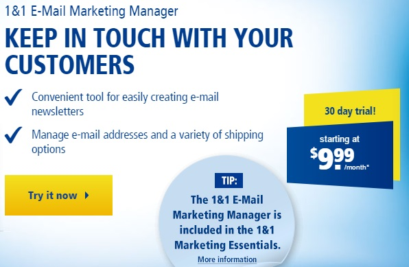 1and1 Email Marketing Manager