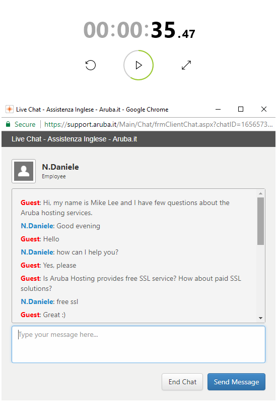 Aruba Moderate Live Chat Support