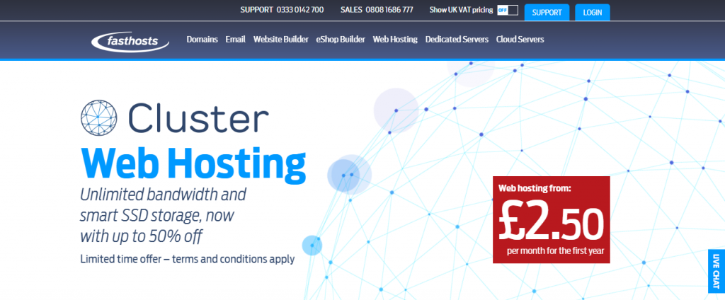 FastHosts Homepage