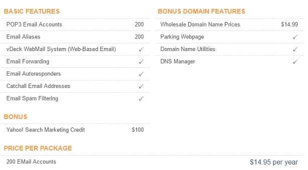 iPower Email Hosting Plan