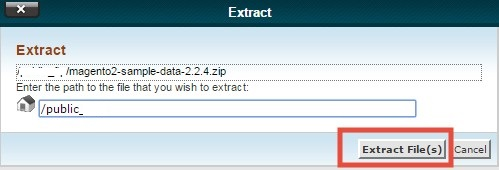 Click on 'Extract Files'
