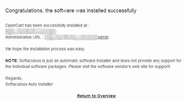 Installation Complted