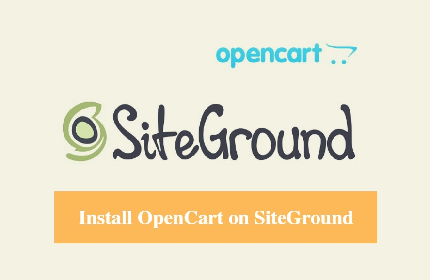 Install OpenCart on SiteGround