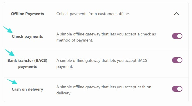 Ways to accept offline payments
