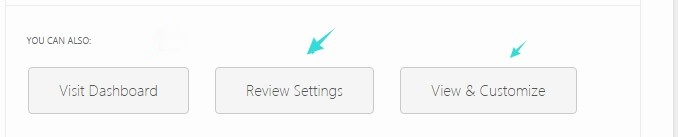 Review & Customize Settings