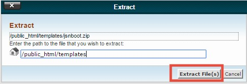 'Extract File(s)'