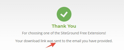 Download link was sent to your email address