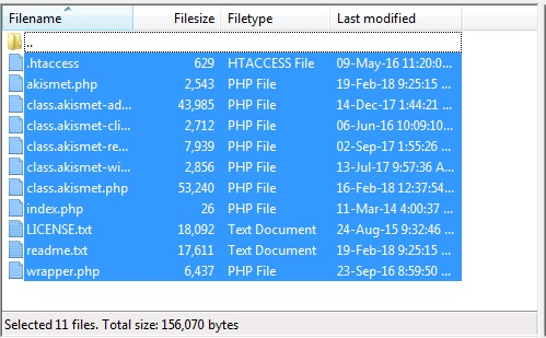 All files selected