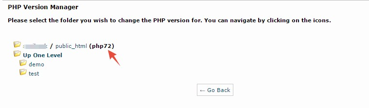 Current PHP version