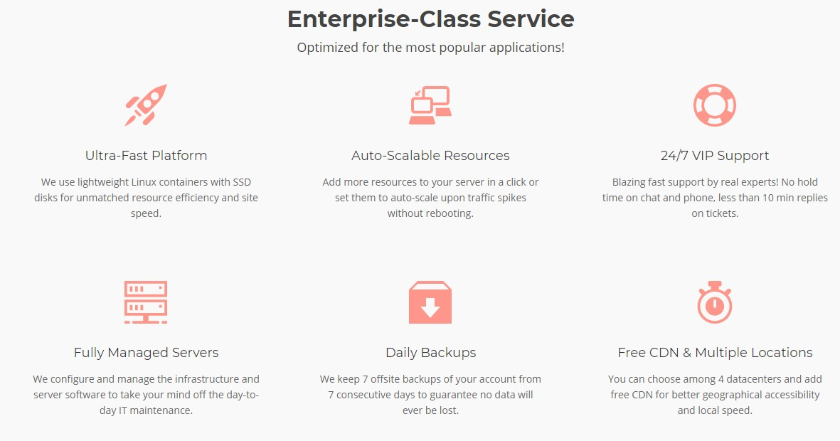 Services of SiteGround cloud hosting