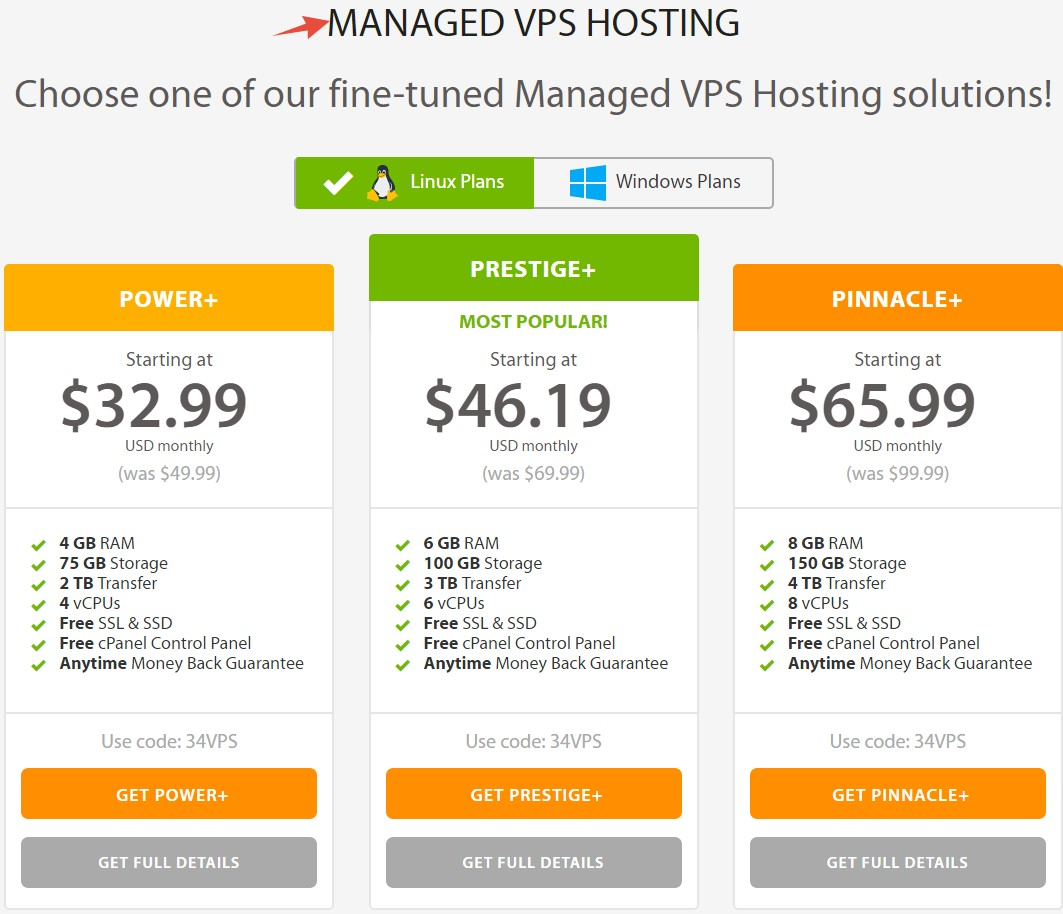 Managed VPS Plans