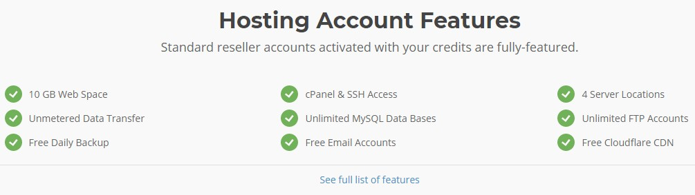 Features of SiteGround Reseller Hosting Service