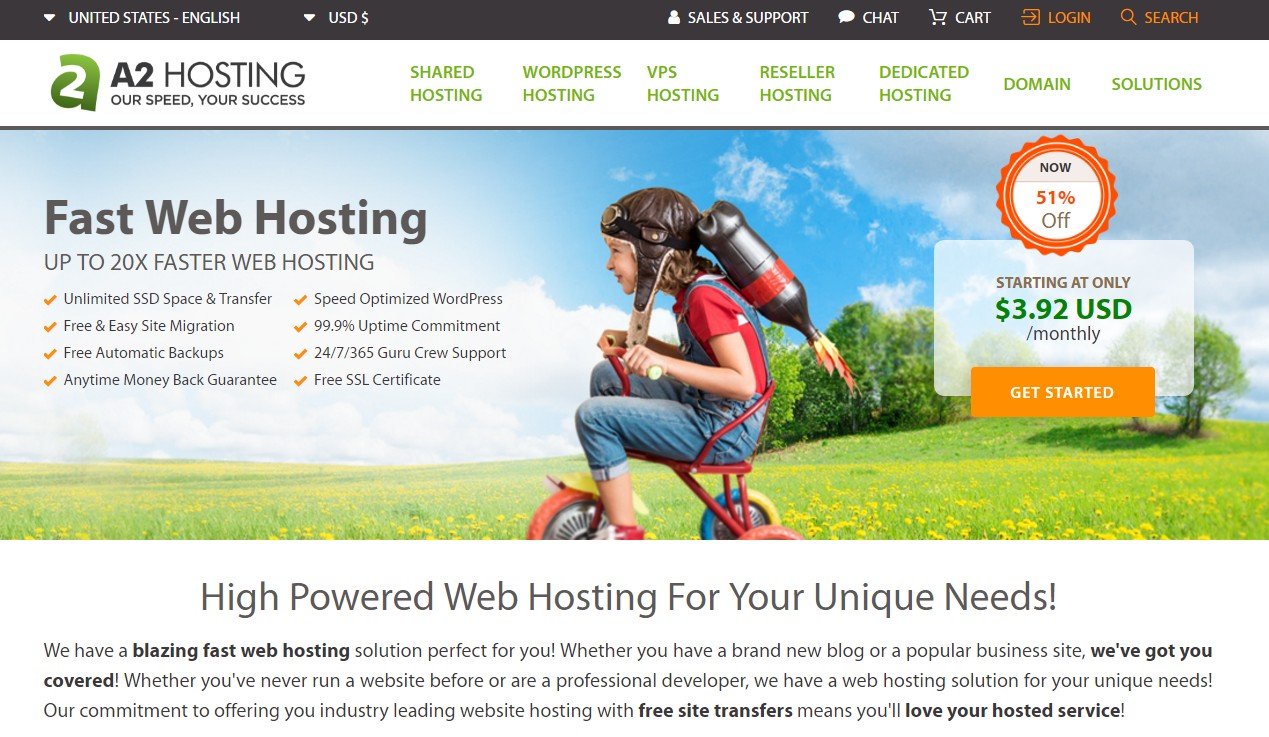 Best Web Hosting for Small Business A2 Hosting