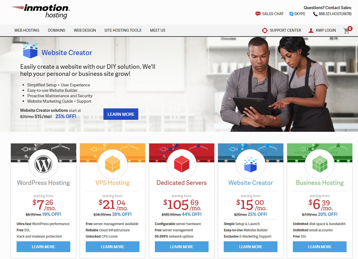 Best Web Hosting for Small Business InMotion Hosting